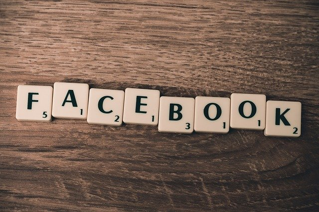 Facebook written in blocks
