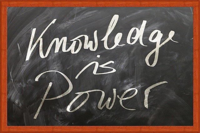 a board that says knowledge is power
